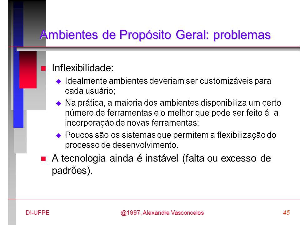 Ambientes de Propósito Geral: problemas