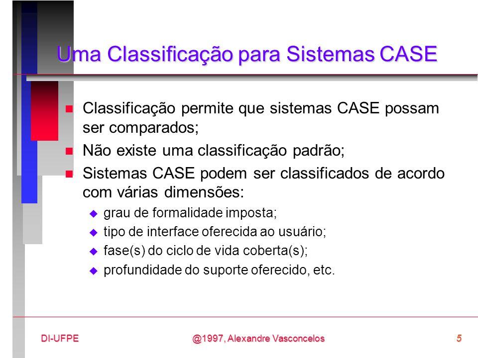 Uma Classificação para Sistemas CASE