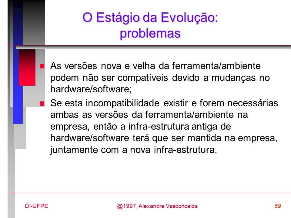 O Estágio da Evolução: problemas