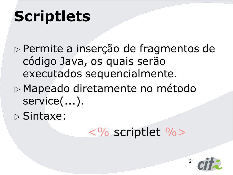Scriptlets <% scriptlet %>