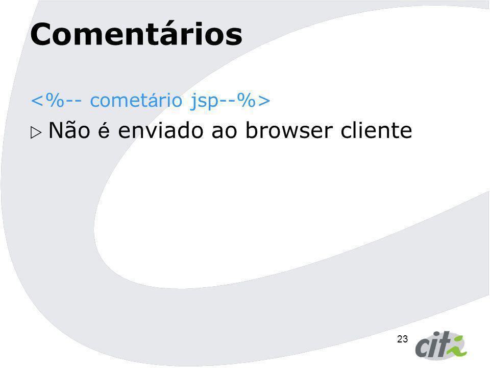 Comentários Não é enviado ao browser cliente