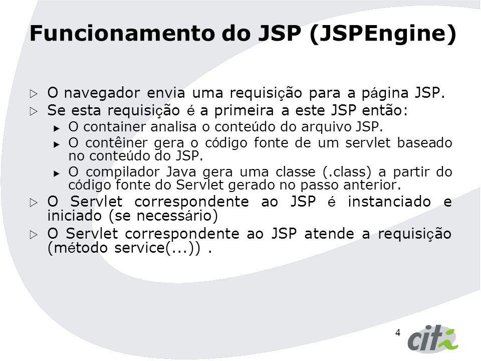 Funcionamento do JSP (JSPEngine)