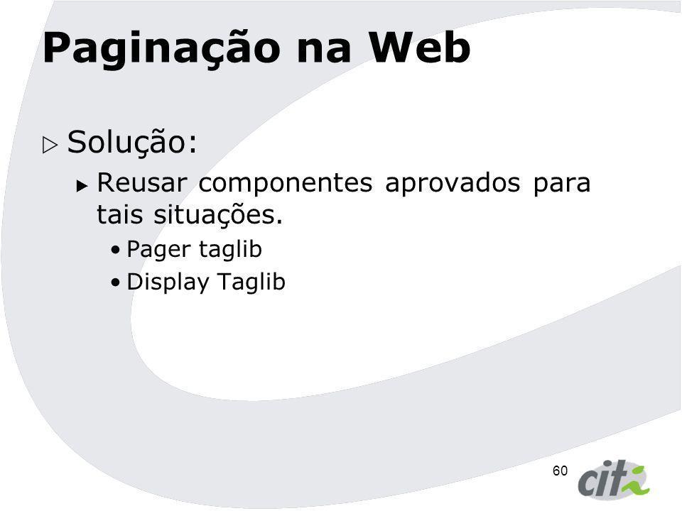 Paginação na Web Solução: