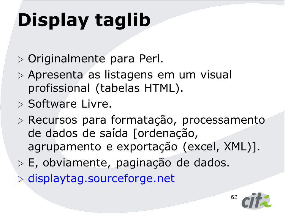 Display taglib Originalmente para Perl.