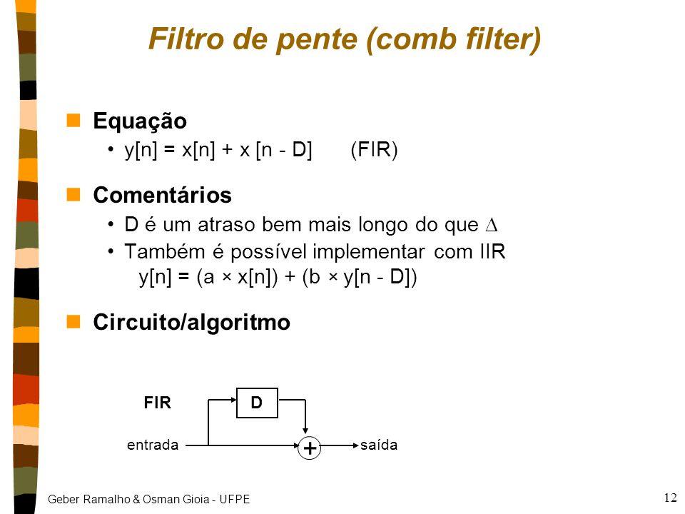 Filtro de pente (comb filter)