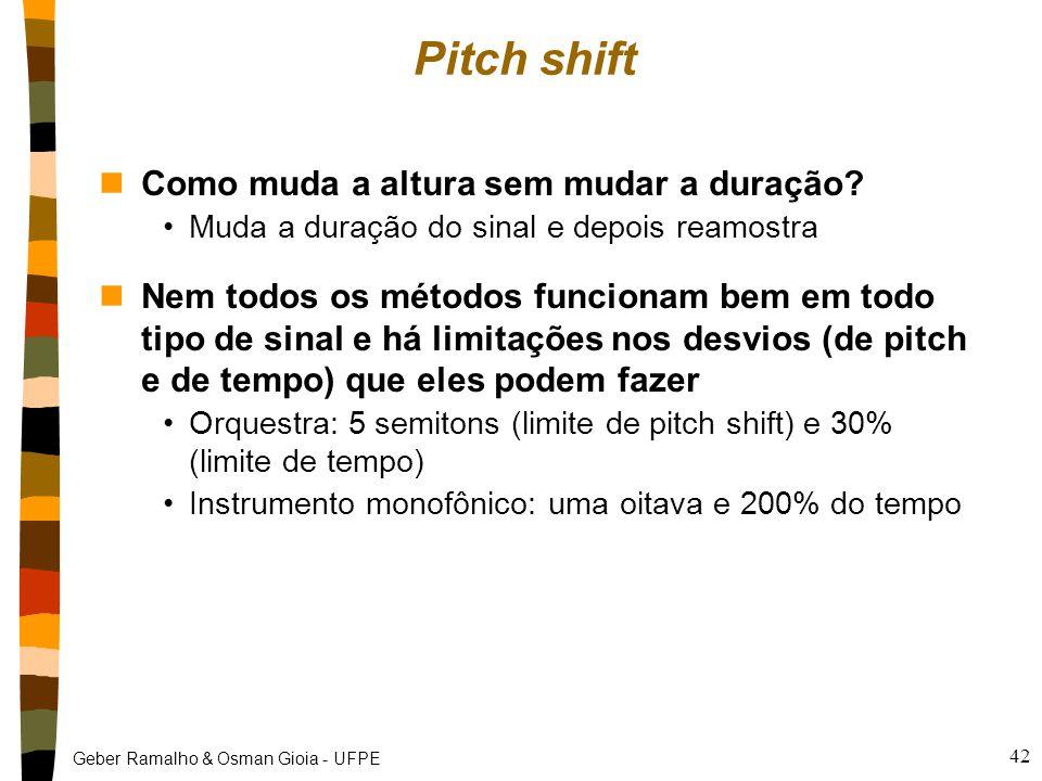 Pitch shift Como muda a altura sem mudar a duração