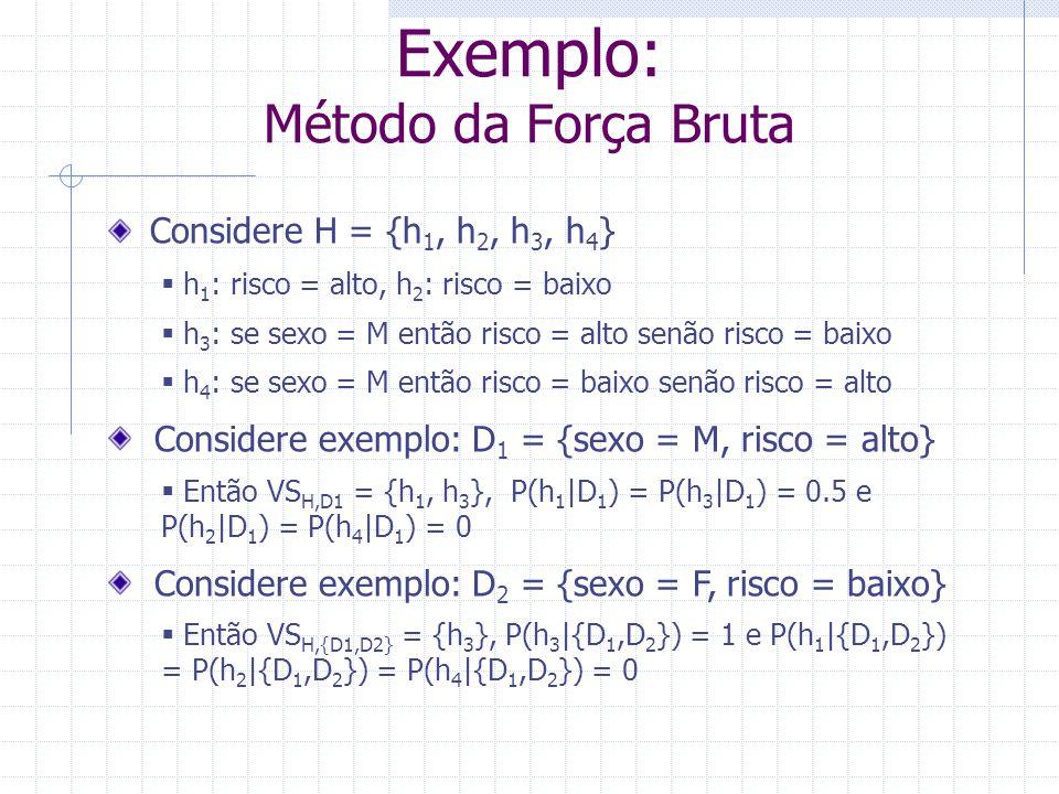 Exemplo: Método da Força Bruta