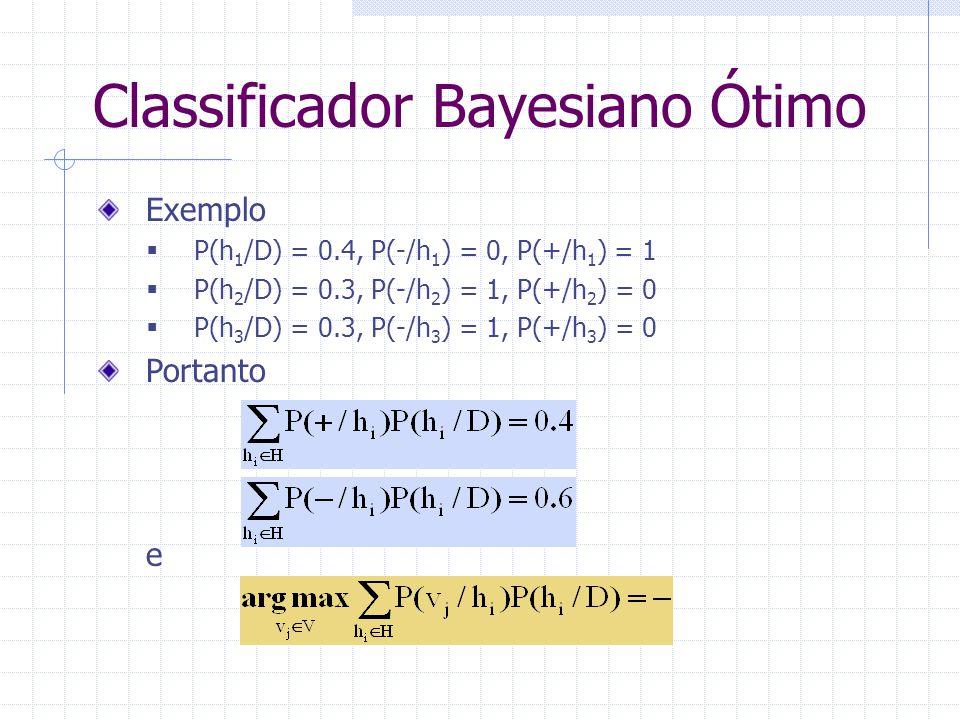 Classificador Bayesiano Ótimo