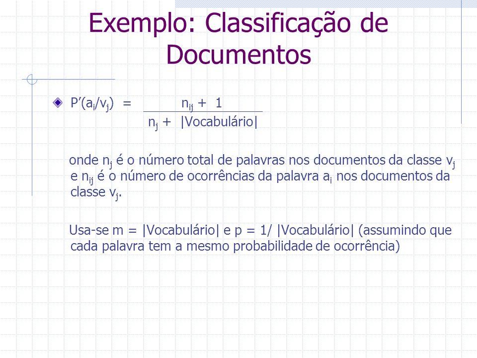 Exemplo: Classificação de Documentos