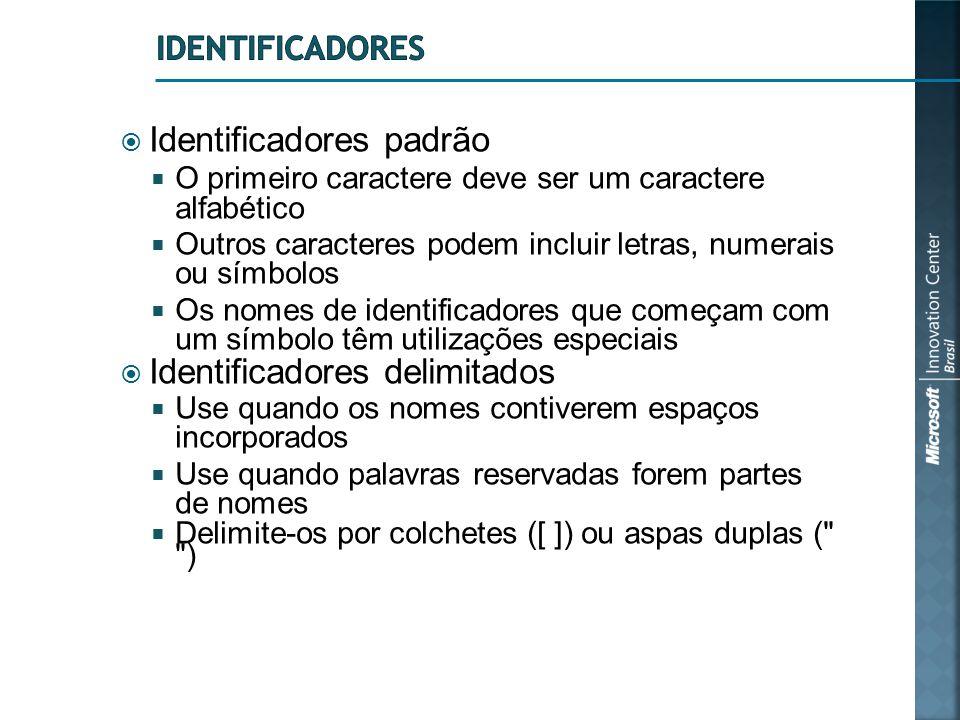 Identificadores padrão