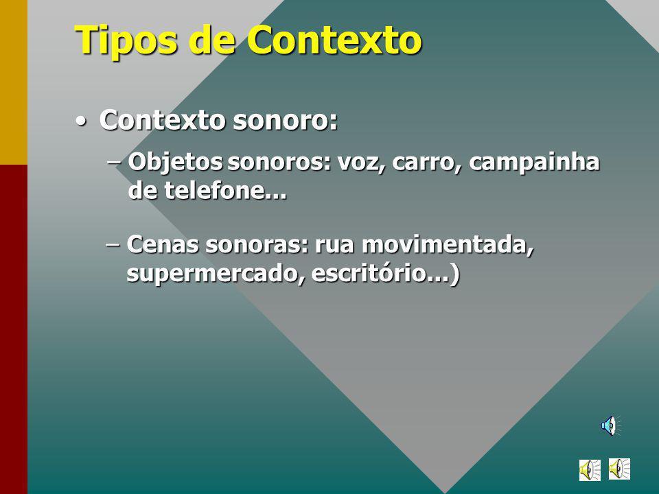 Tipos de Contexto Contexto sonoro: