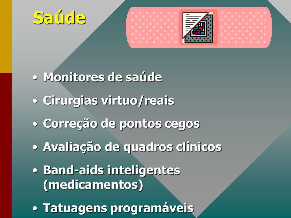 Saúde Monitores de saúde Cirurgias virtuo/reais