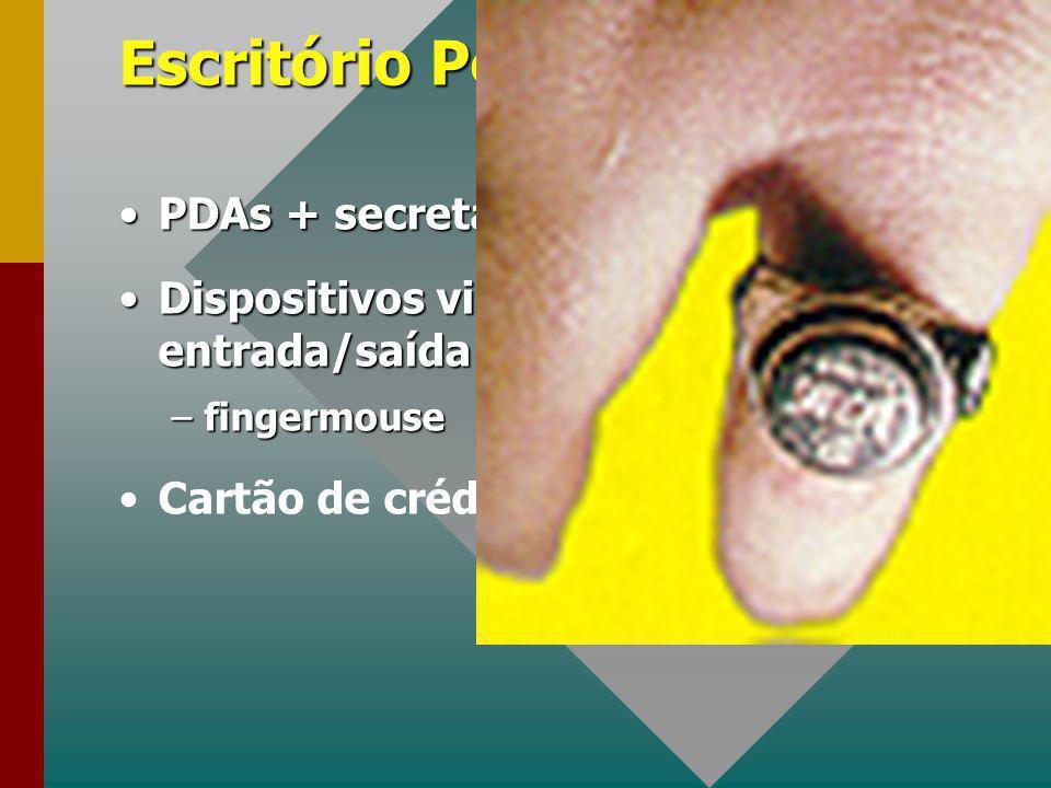 Escritório Pessoal PDAs + secretária + comunicação