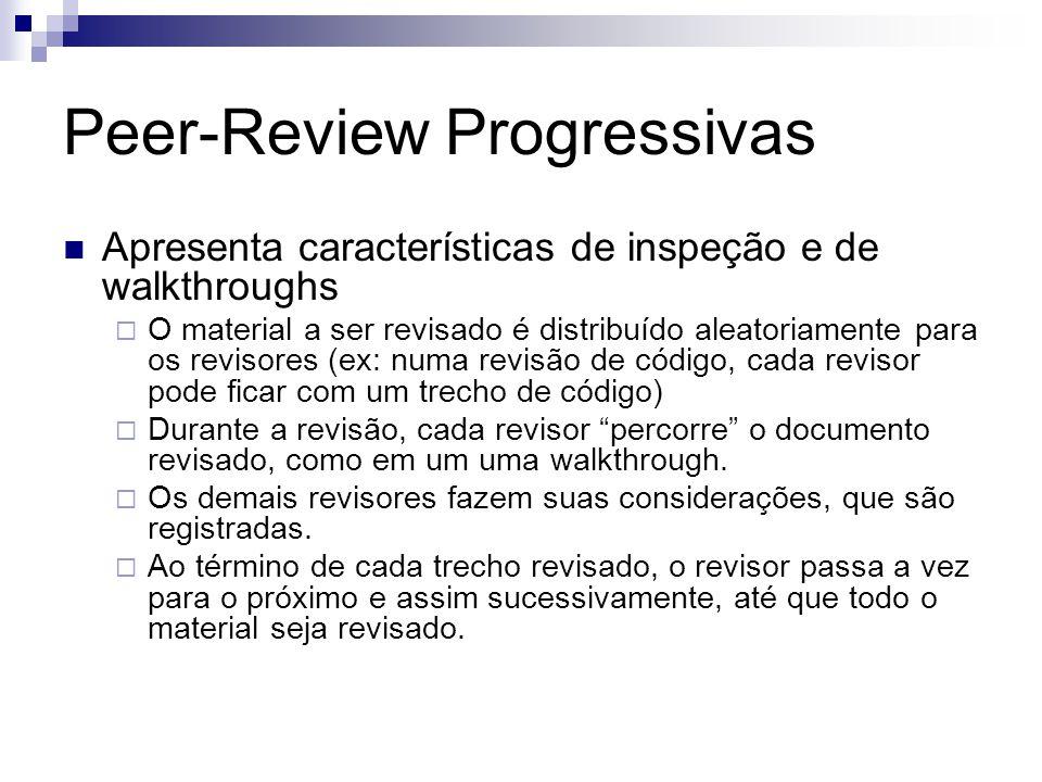 Peer-Review Progressivas