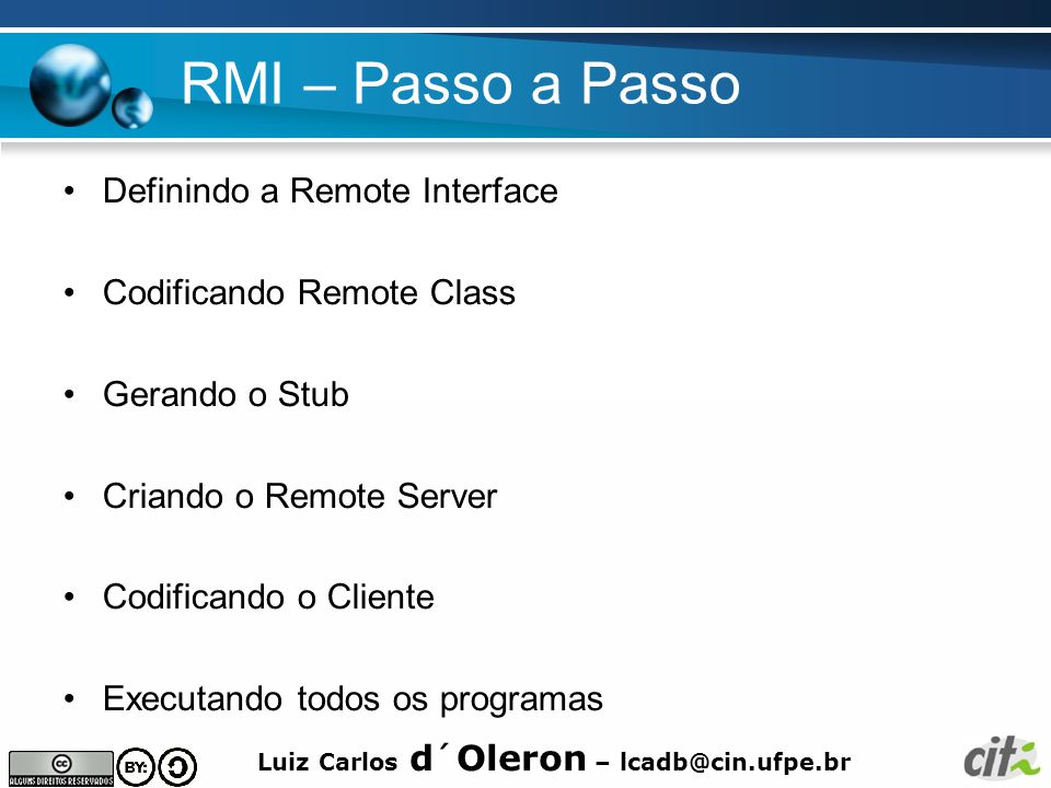 RMI – Passo a Passo Definindo a Remote Interface