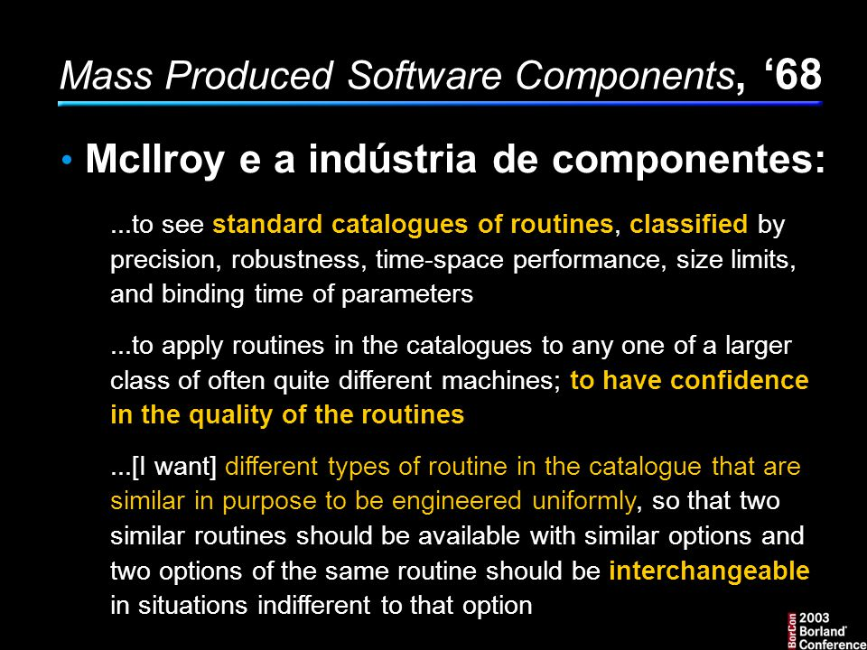 Mass Produced Software Components, '68