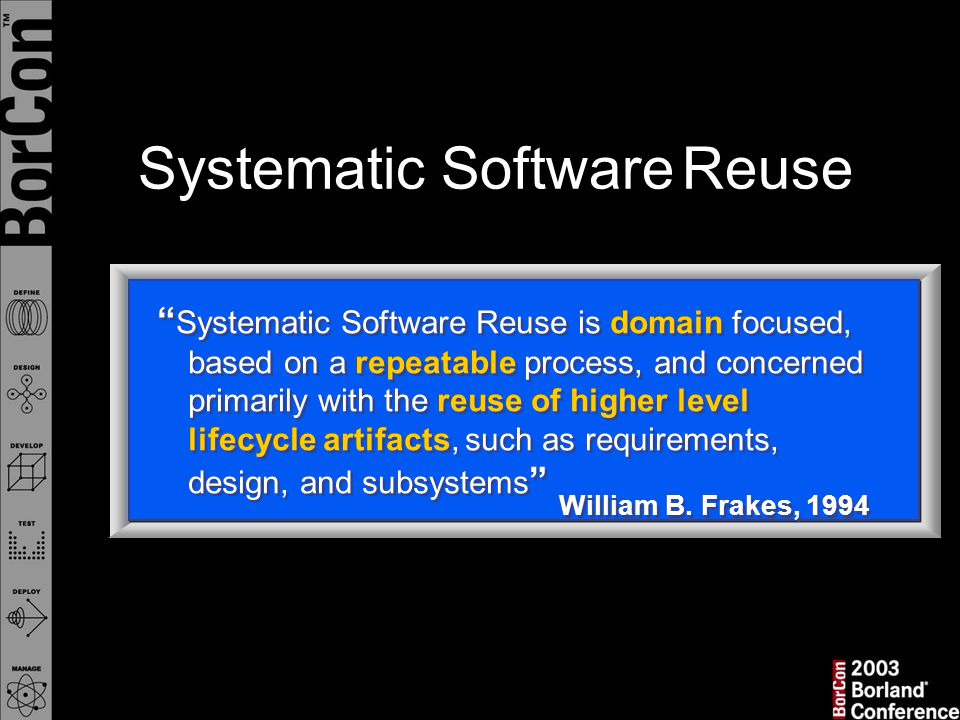 Systematic Software Reuse