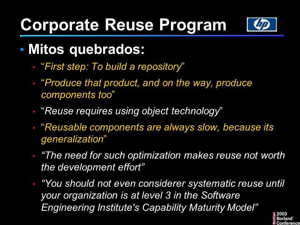 Corporate Reuse Program