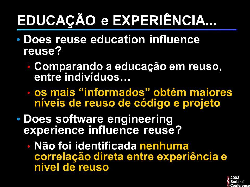 EDUCAÇÃO e EXPERIÊNCIA...