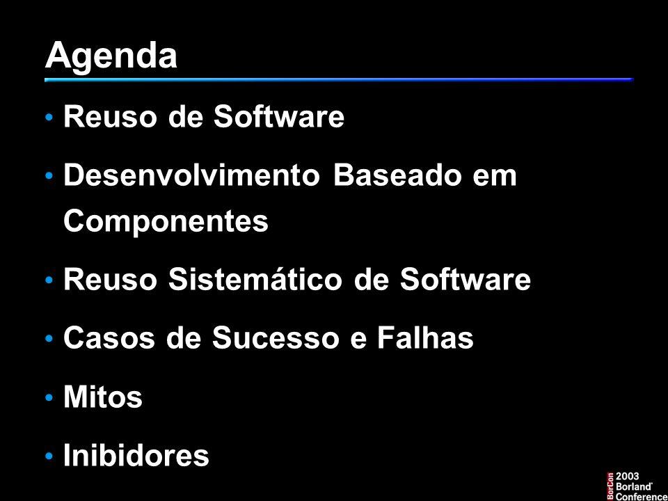 Agenda Reuso de Software Desenvolvimento Baseado em Componentes