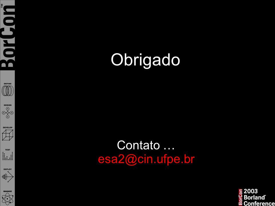 Contato … esa2@cin.ufpe.br