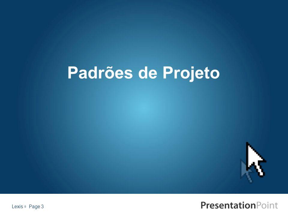 Padrões de Projeto Lexis  Page 3