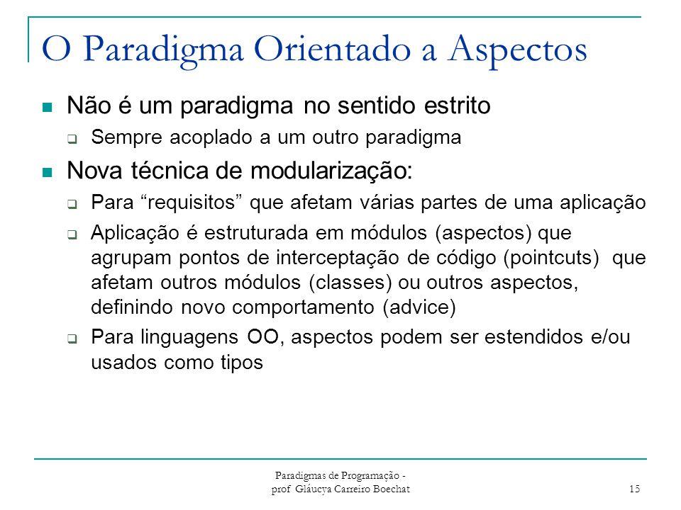 O Paradigma Orientado a Aspectos