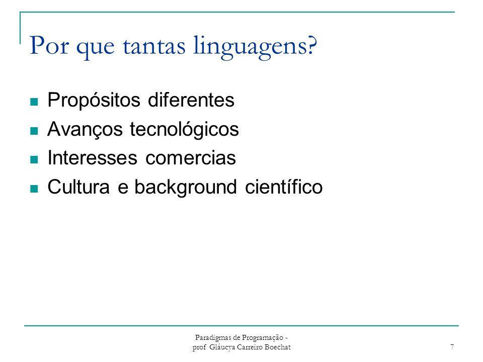 Por que tantas linguagens