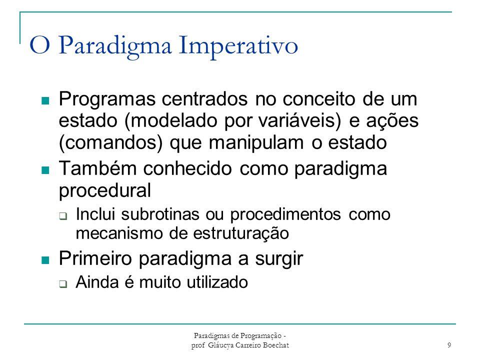 O Paradigma Imperativo
