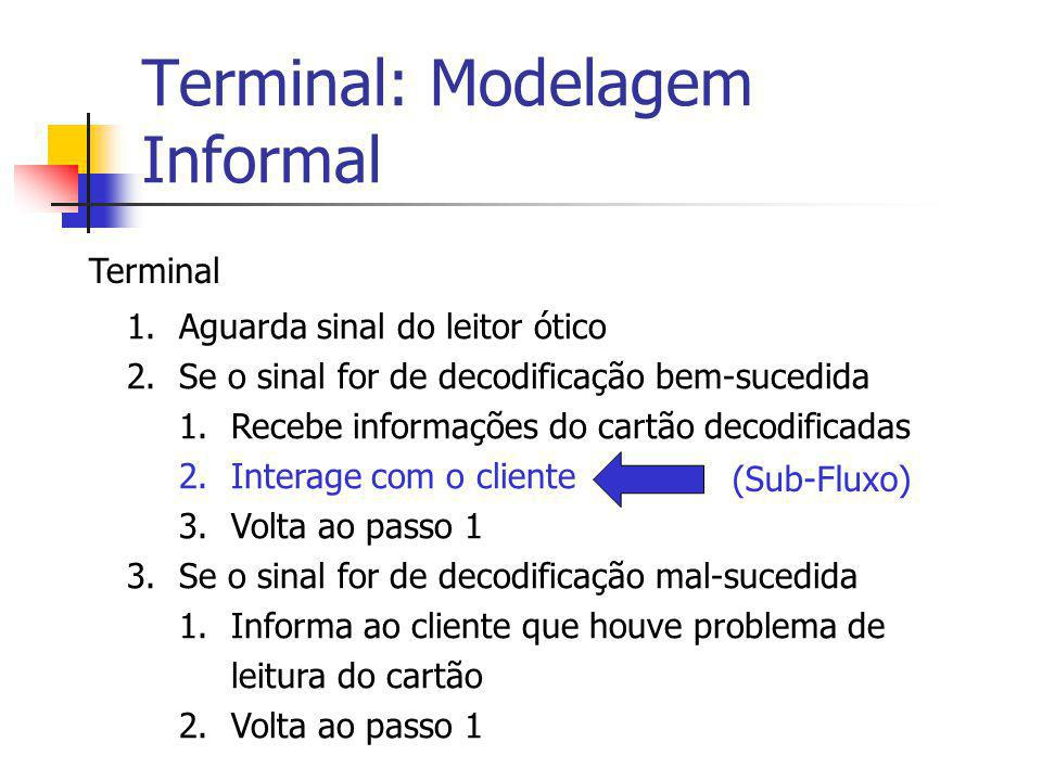 Terminal: Modelagem Informal