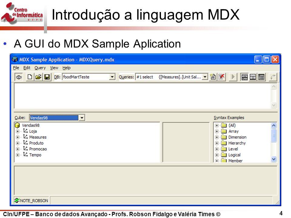 Introdução a linguagem MDX