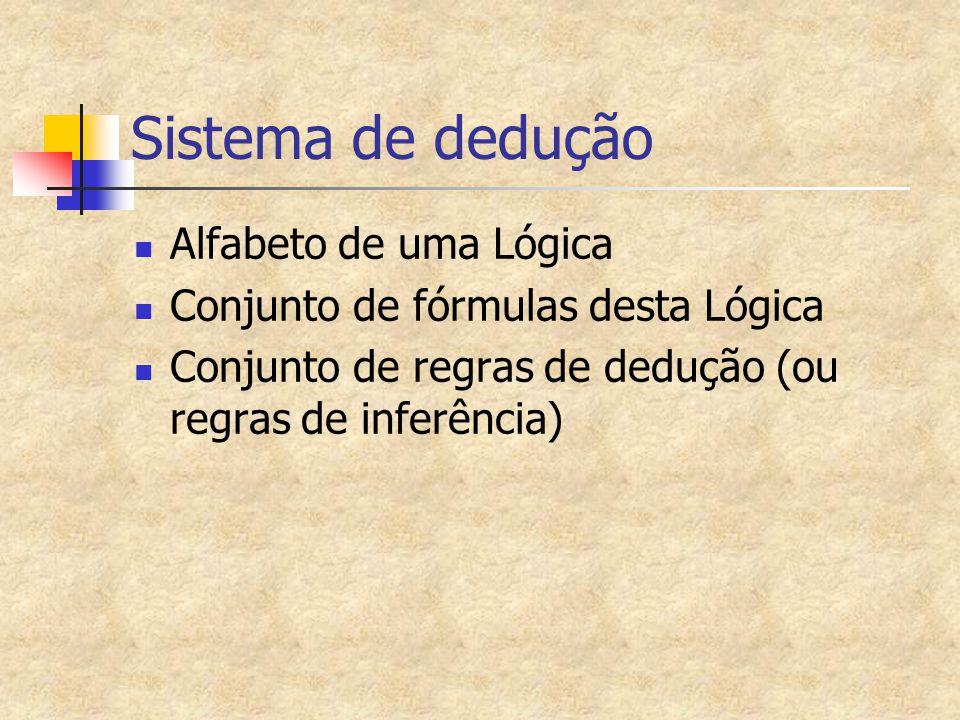 Sistema de dedução Alfabeto de uma Lógica