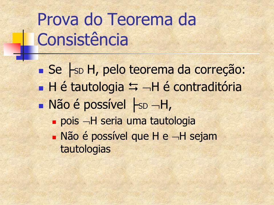 Prova do Teorema da Consistência