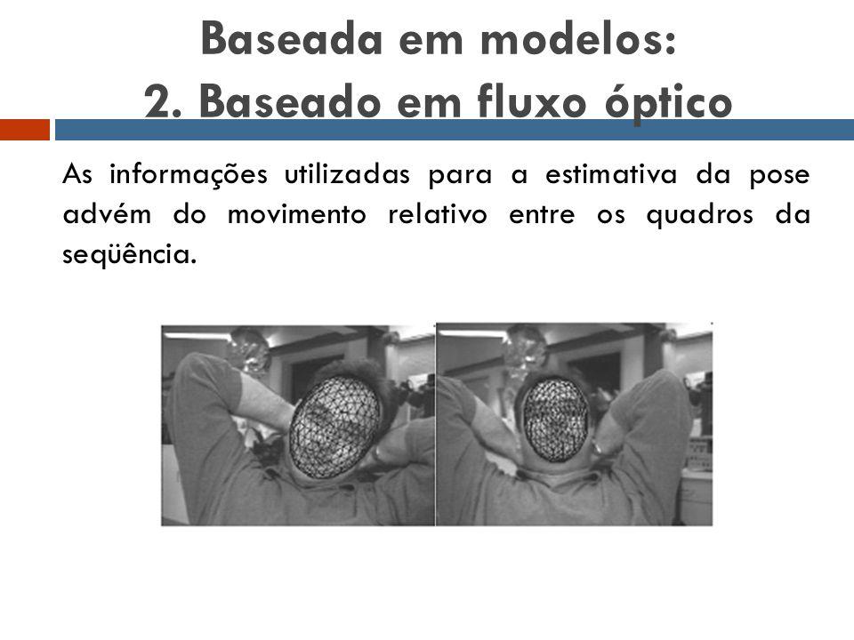 Baseada em modelos: 2. Baseado em fluxo óptico
