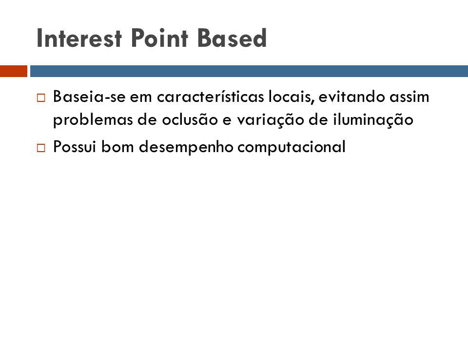 Interest Point Based Baseia-se em características locais, evitando assim problemas de oclusão e variação de iluminação.