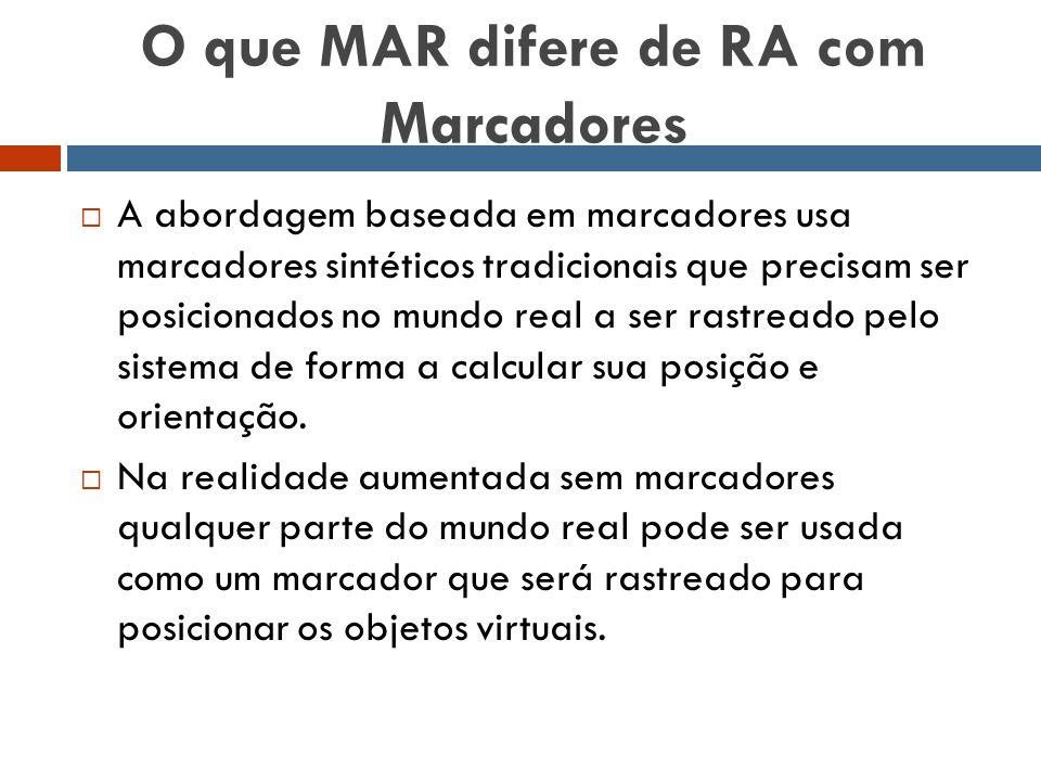 O que MAR difere de RA com Marcadores