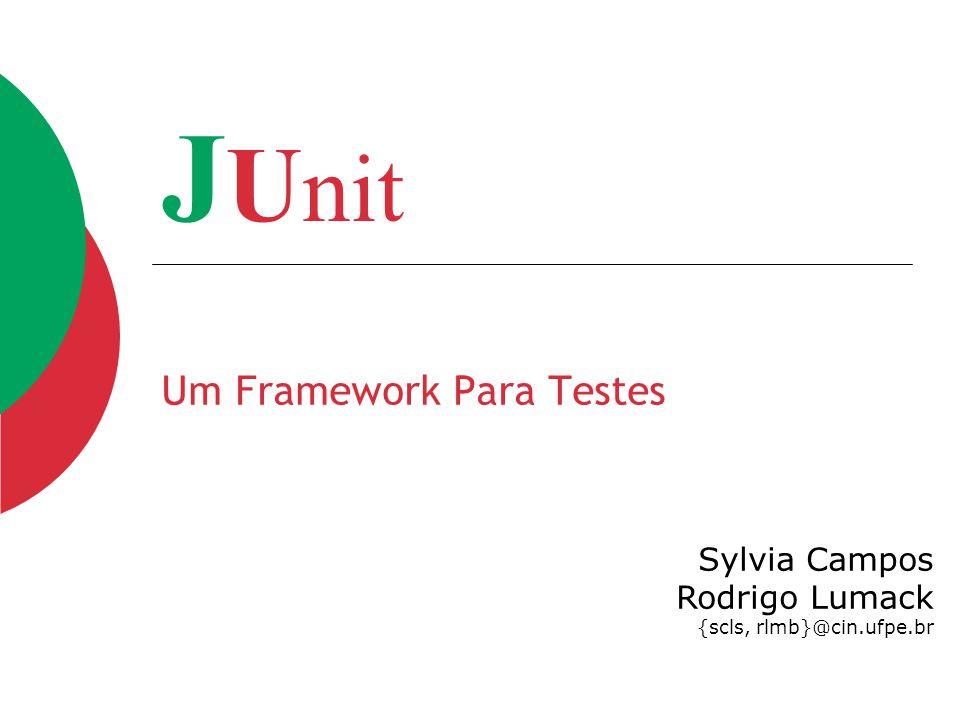 Um Framework Para Testes