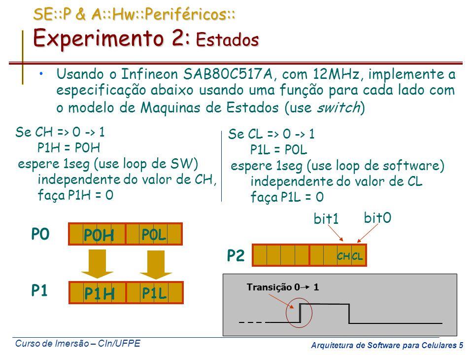SE::P & A::Hw::Periféricos:: Experimento 2: Estados