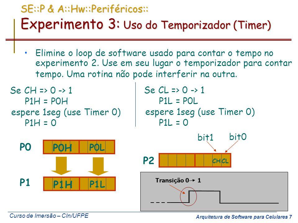 SE::P & A::Hw::Periféricos:: Experimento 3: Uso do Temporizador (Timer)