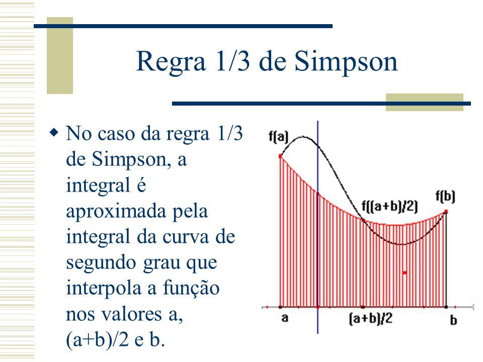 Regra 1/3 de Simpson