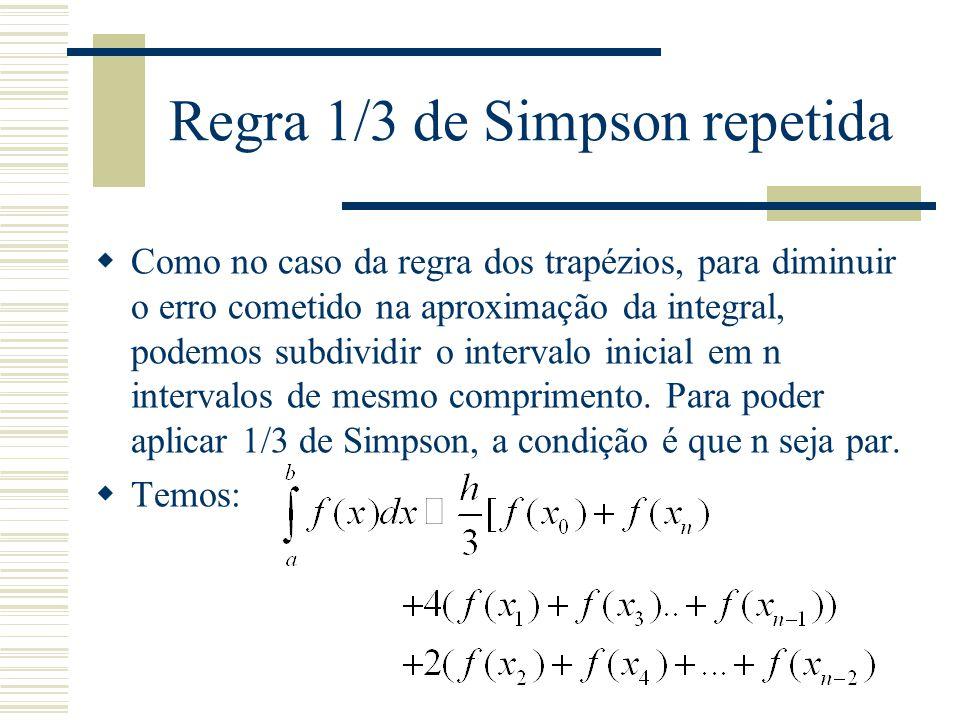 Regra 1/3 de Simpson repetida