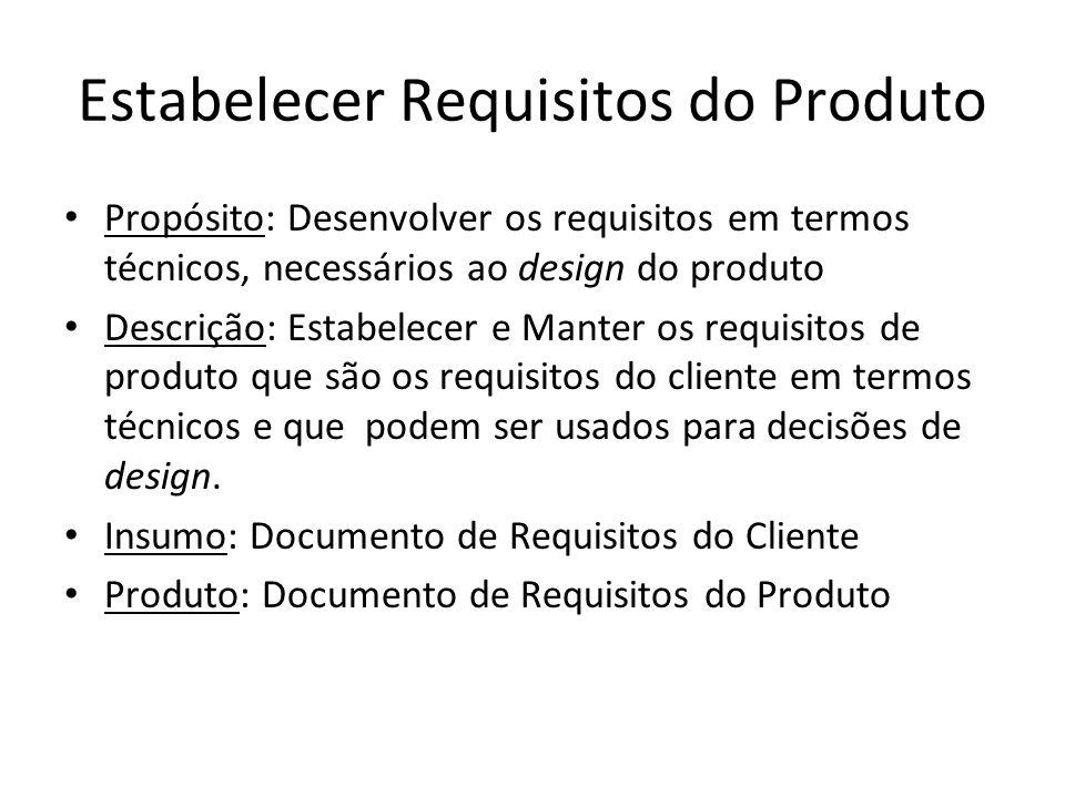 Estabelecer Requisitos do Produto