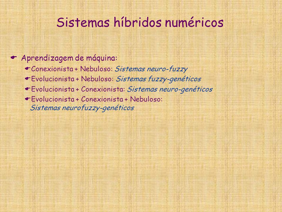 Sistemas híbridos numéricos