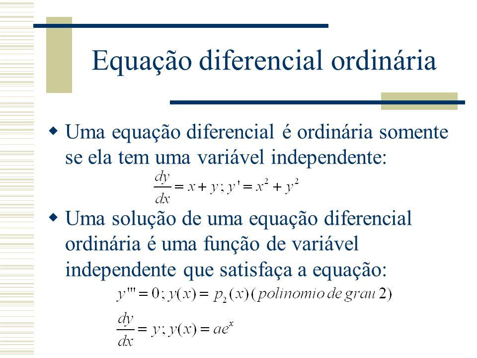 Equação diferencial ordinária