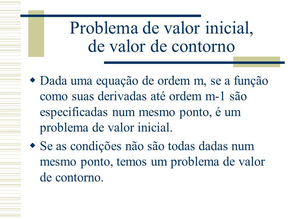 Problema de valor inicial, de valor de contorno