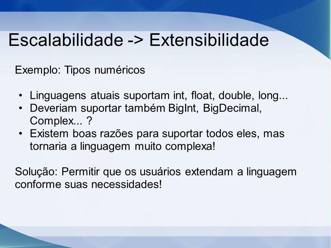 Escalabilidade -> Extensibilidade
