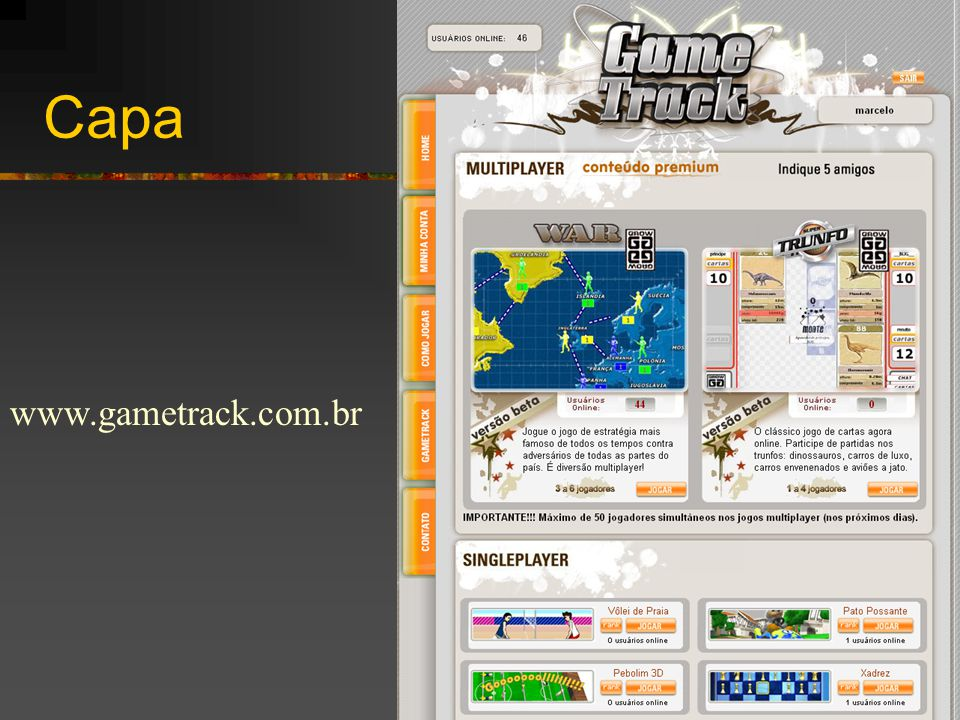 Capa www.gametrack.com.br