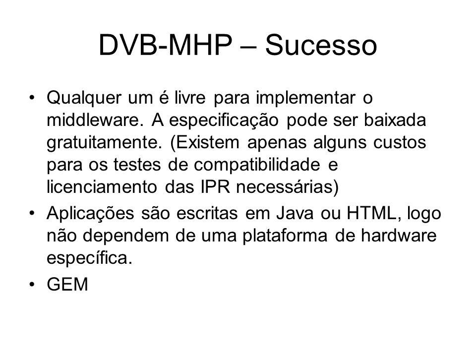DVB-MHP – Sucesso