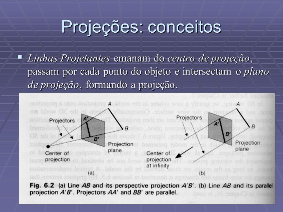 Projeções: conceitos
