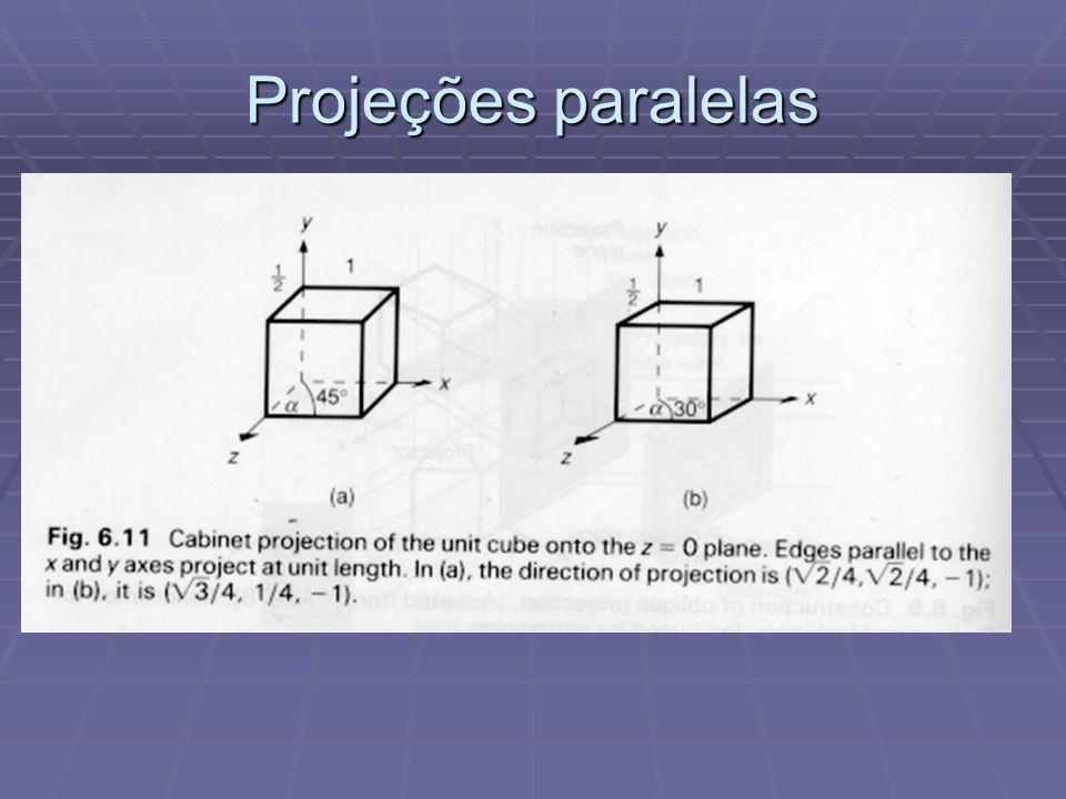 Projeções paralelas